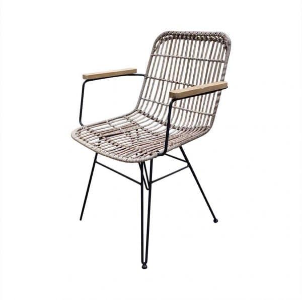 wicker loungestoel